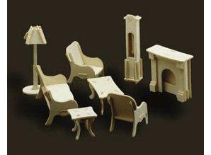Woodcraft Poppenhuis meubels woonkamer