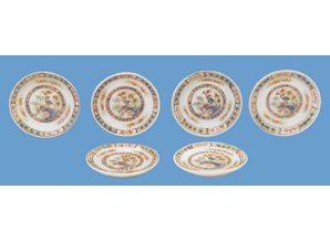 HuaMei Collection Set van 6 borden