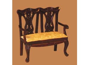 Euromini's Queen Anne 2-zits sofa, mahonie