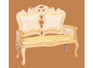 Euromini's Victoriaanse sofa, blankhout