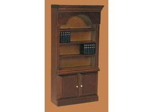 Euromini's Boekenkast (vaste deurtjes), noten