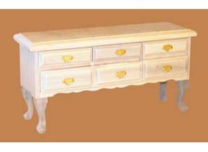 Euromini's Queen Anne commode, blankhout