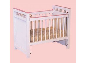 Euromini's Kinderbed, wit/roze
