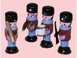 Euromini's Houten soldaatjes, per 4