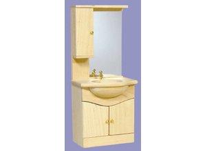Euromini's Badkamerkast met spiegel, blankhout