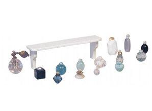 Euromini's Wandplankje met parfumflesjes, 14-delig