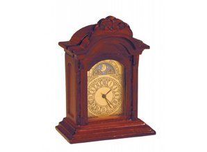 Deluxe Collection Echt werkende klok, mahonie