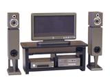 Euromini's TV-meubel, kompleet als afgebeeld