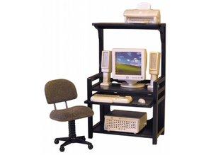 Euromini's Bureau met bureaustoel, printer en computerset