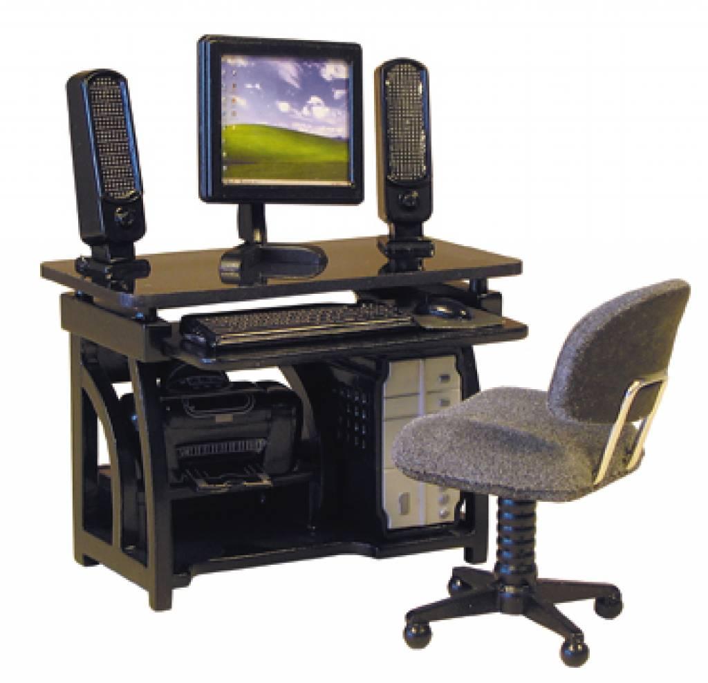 Bureaustoel 30 Euro.Bureau Met Bureaustoel Printer En Computerset Euromini S