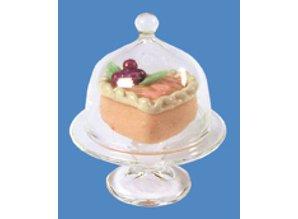 Euromini's Taartschotel met deksel en taartje