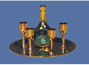Euromini's Fles Chabot Napoleon met 4 glazen en dienblad