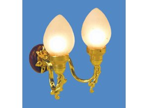 "Euromini's Wandlamp, 2-pits ""pearl"""