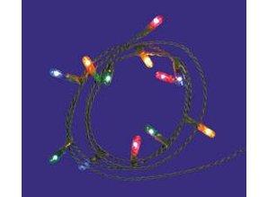 Euromini's Kerstverlichting 12 lampjes gekleurd micro 2mm, zonder stekker