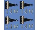 Euromini's T-scharnier, per 4 + nagesl