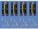 Euromini's EM1131 H-scharnier, per 4 + nagels