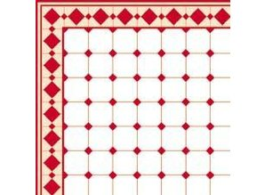 Euromini's Old Tiles, Red & White