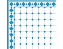 Euromini's Old Tiles, Light blue & White