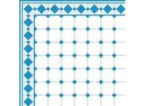 Euromini's Old Tiles, Light blue & White