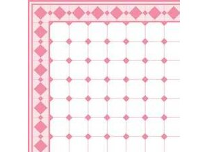 Euromini's Old Tiles, Pink & White