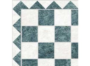 Euromini's Marble Tiles, Green & White