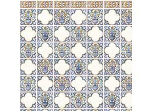 Euromini's Delft Tiles, Vases with flowers