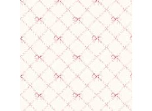 Euromini's Butterflytie, pink on ivory