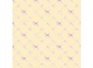 Euromini's Butterflytie, pink on yellow