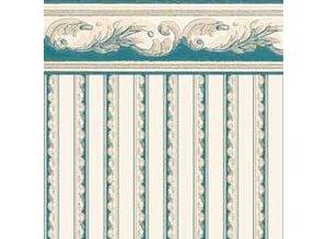 Euromini's Crest, aquamarine on beige