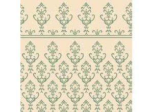 Euromini's Victorian, green on beige