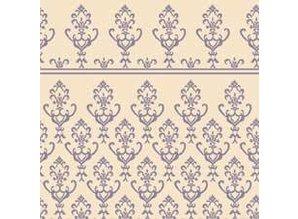 Euromini's Victorian, bluegrey on beige