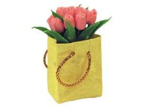 Euromini's Tas met roze tulpen