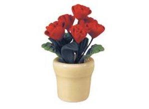 Euromini's Rode rozen in keramiek pot