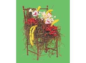 Euromini's Stoel met bloemen
