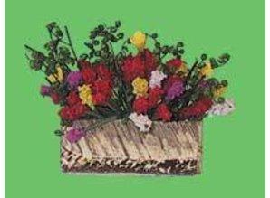 Euromini's Bloembak met bloemen
