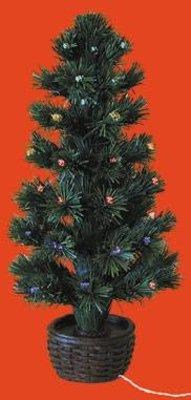 Fiber Optic Kerstboom Kompleet Met Batterijhouder Euromini S