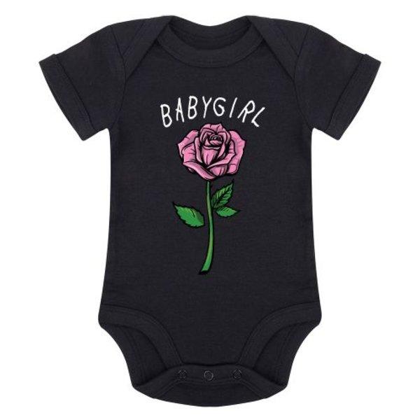 BABYGIRL ROSE ROMPER