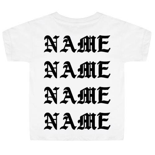 KIDZ DISTRICT PABLO NAAM KIDS T-SHIRT (GEPERSONALISEERD)