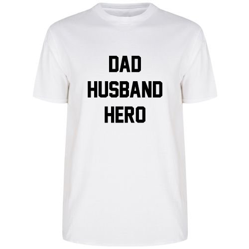 KIDZ DISTRICT DAD HUSBAND HERO T-SHIRT