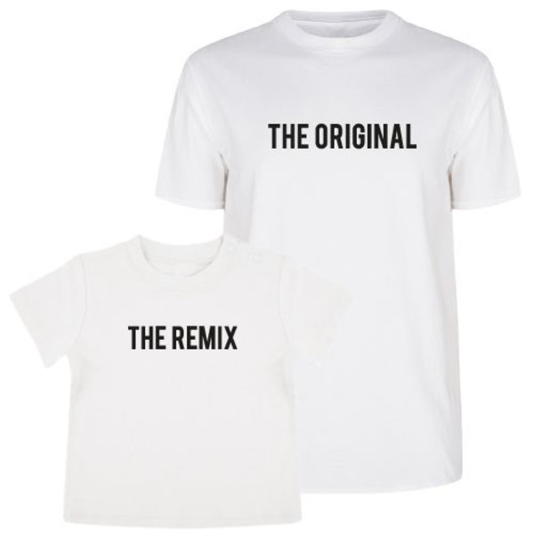 THE ORIGINAL & THE REMIX TWINNING T-SHIRTS