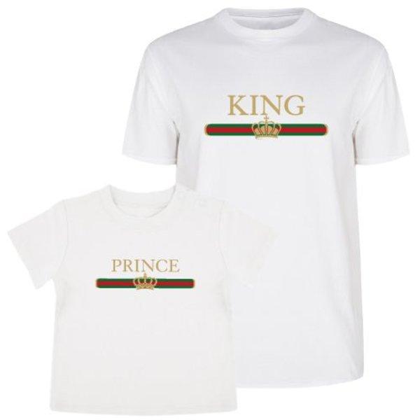 KING & PRINCE STRIPED TWINNING T-SHIRTS