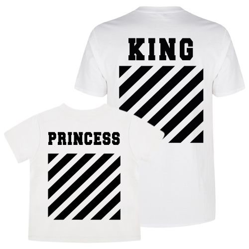 KIDZ DISTRICT KING & PRINCESS OFF TWINNING T-SHIRTS