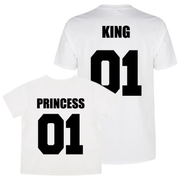 TEAM KING & PRINCESS TWINNING T-SHIRTS
