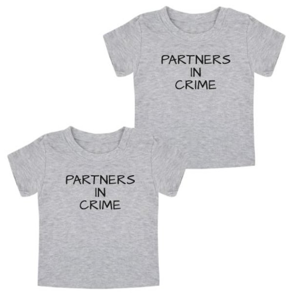 PARTNERS IN CRIME TWINNING T-SHIRTS