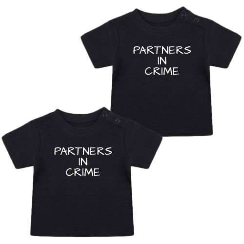KIDZ DISTRICT PARTNERS IN CRIME TWINNING T-SHIRTS