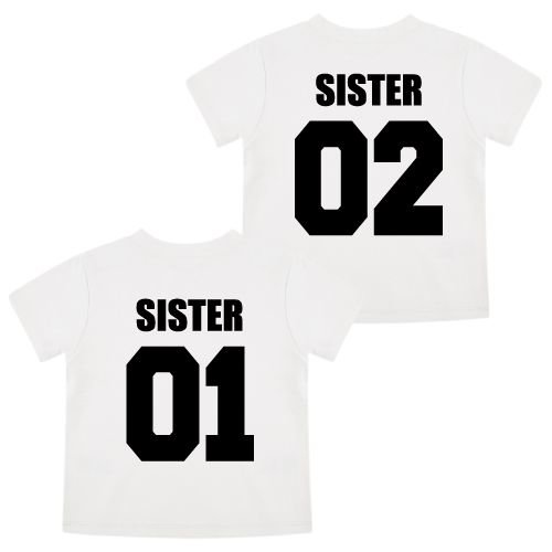 KIDZ DISTRICT TEAM SISTERS TWINNING T-SHIRTS