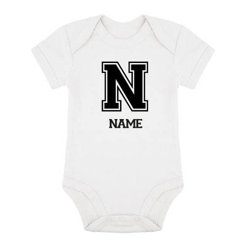 KIDZ DISTRICT VARSITY NAME ROMPER (GEPERSONALISEERD)
