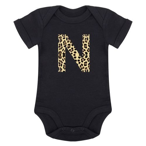 KIDZ DISTRICT LEOPARD INITIAL ROMPER (GEPERSONALISEERD)