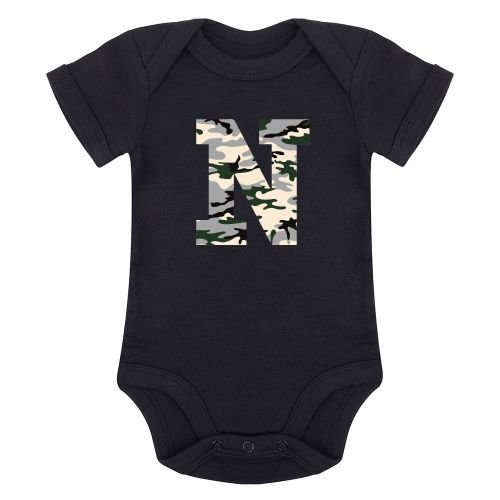KIDZ DISTRICT CAMO INITIAL ROMPER (GEPERSONALISEERD)