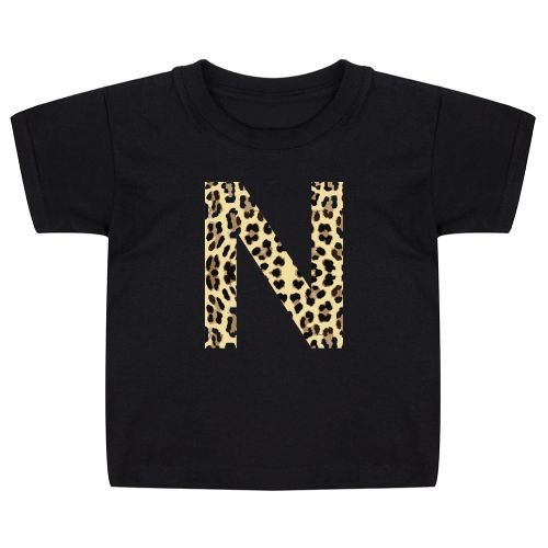 KIDZ DISTRICT LEOPARD INITIAL KIDS T-SHIRT (GEPERSONALISEERD)